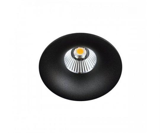 Įleidžiamas hermetinis šviestuvas LUXO IP65 BLACK LED 8W 3000K Ø85 MM