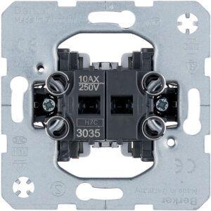Mechanizmas jungiklis 2-jų klavišų 10A-250V