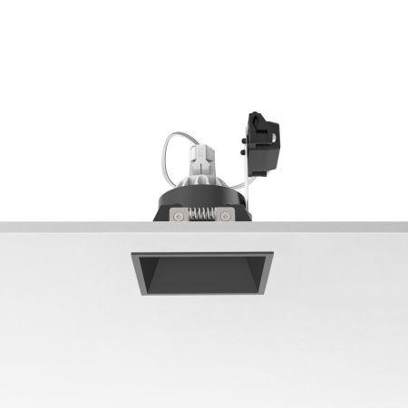 Įleidžiamas šviestuvas EASY KAP 80 SQUARE FIX PAR 16 MAX 10W BLACK