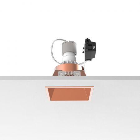 Įleidžiamas šviestuvas EASY KAP 80 SQUARE FIX PAR 16 MAX 10W COPPER